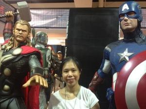 The Author, Captain America and Thor/ToyConPH Photo Credit: Kitin Miranda