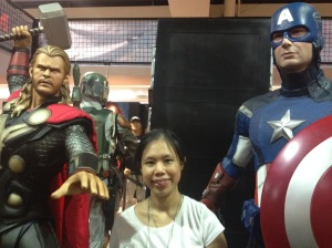 The Author, Captain America and Thor/ToyConPH Photo Credit: Kitin Miranda