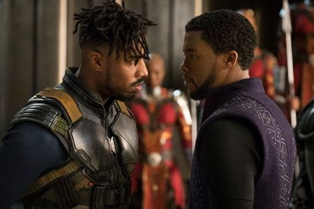 Killmonger and T'Challa