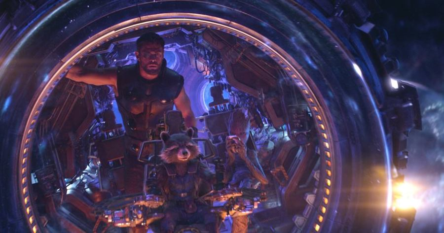 Avengers Infinity War Thor Groot Rocket