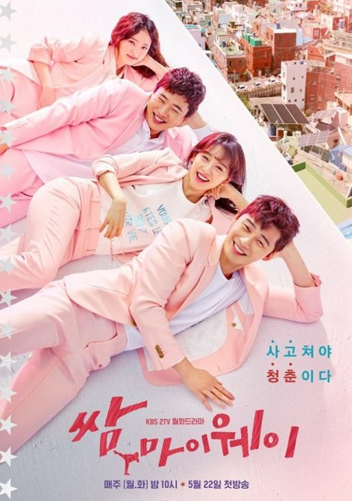 Fight for My Way Pink Poster FB KBS