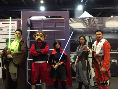 With Rey, a Jedi & Other Resistance Fighters