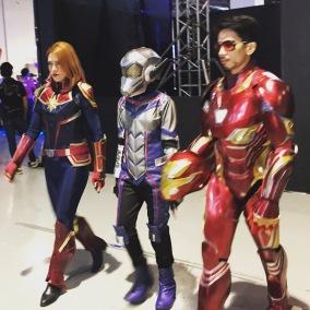 Captain Marvel, AntMan & Iron Man