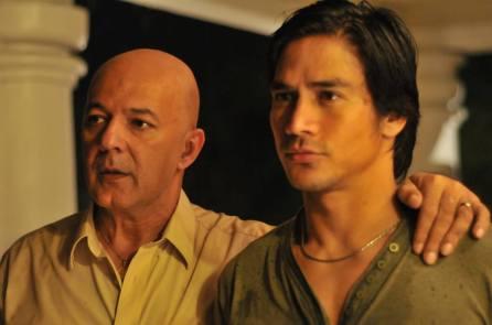Coronel's father-in-law, Congressman Manrique (Michael de Mesa) and Coronel. Image Source: Buy Bust Movie US Facebook Page