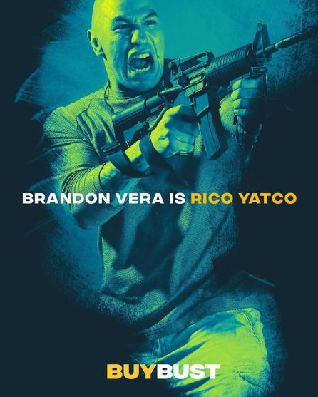 Brandon Vera as Rico Yatco Image Source: Buy Bust Facebook Page